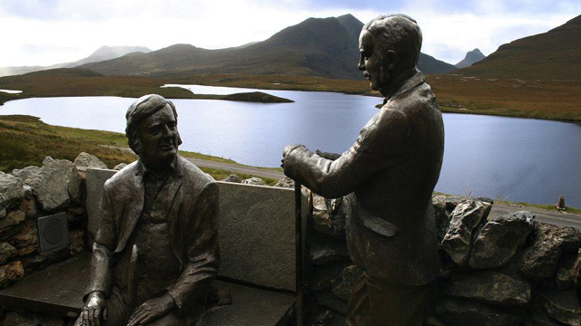 Peach & Horne at Knockan Crag
