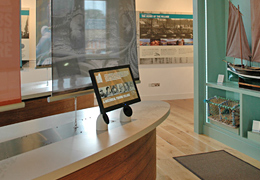 St Abbs Visitor Centre interior